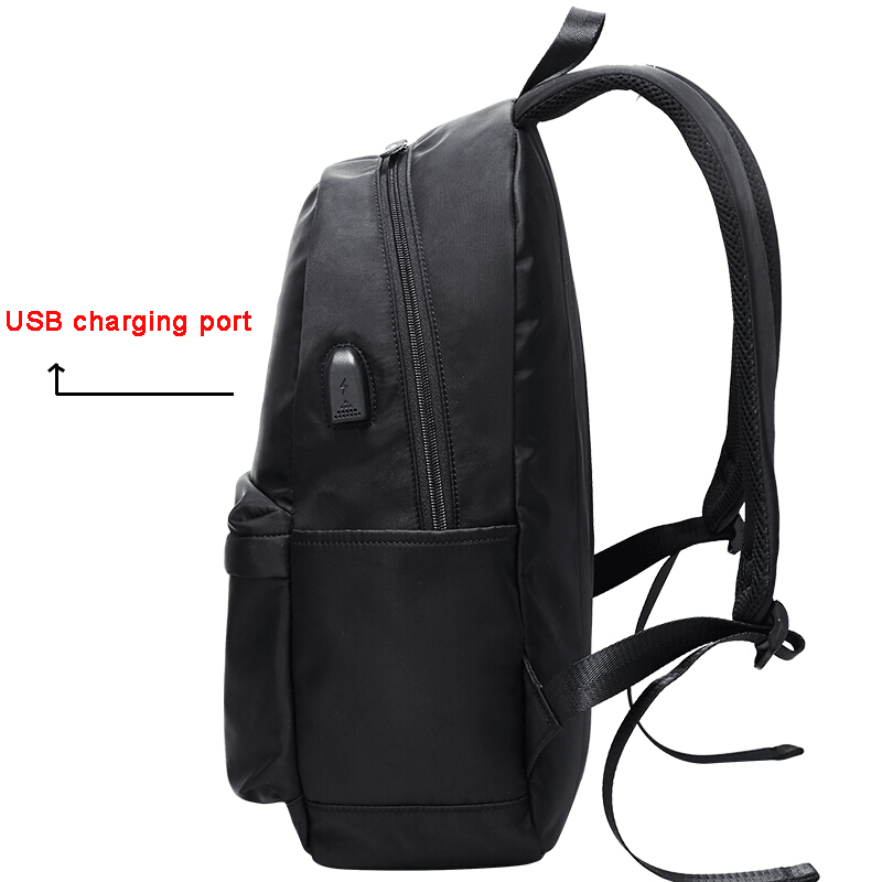 fashion smart students backpack with usb charging port