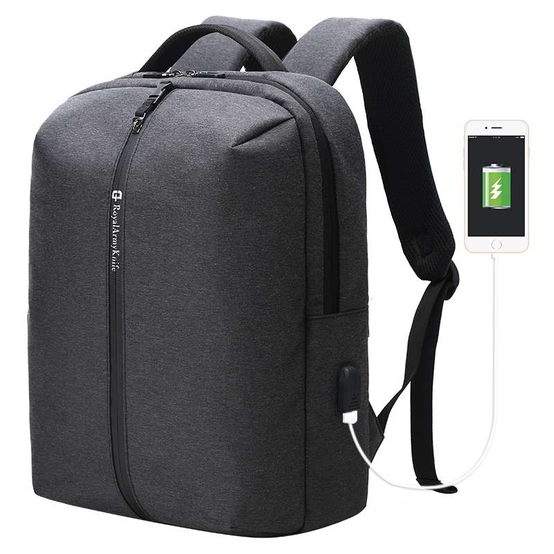 water resistant backpack with usb charging port