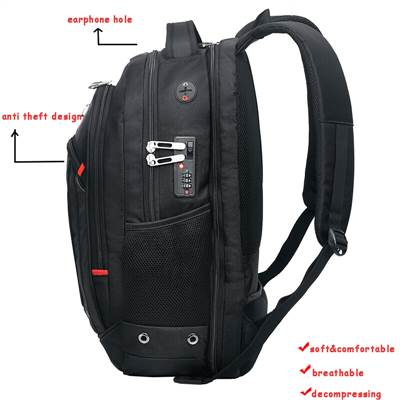 durable backpack with USB earphone port
