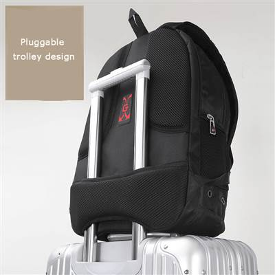 durable Pluggable trolley design backpack