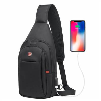 single strap backpack with usb charging