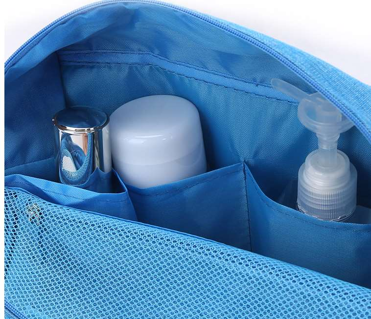 Small hanging toiletry bag inside