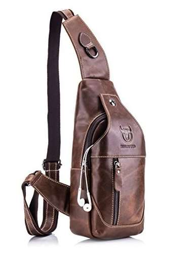 Crossbody backpack leather