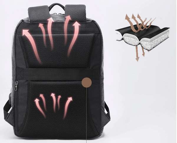 backpack with ergonomic design